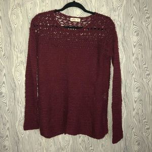Maroon Knitted Sweater ~ size Small